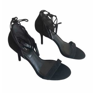 Michael Kors Collection Rosemary Black Suede Heels